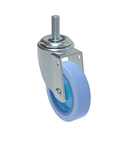 Schioppa L10Series, Gleff 310Citrus Bleu, pivotant Caster, 7,6cm (75mm) non