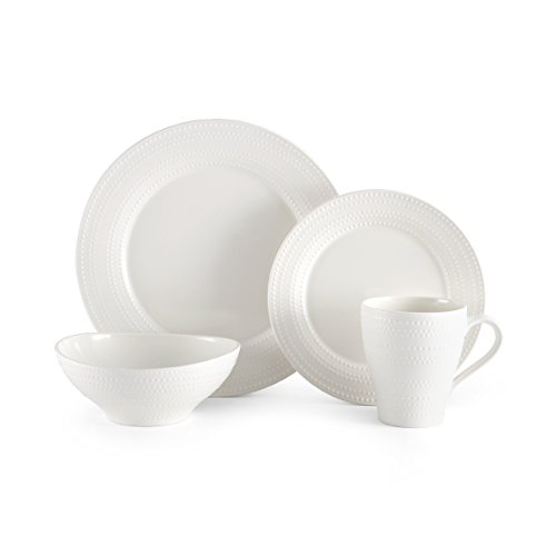 Mikasa White Dish (Mikasa Ryder White 16-Piece Dinnerware Set, Service for 4)