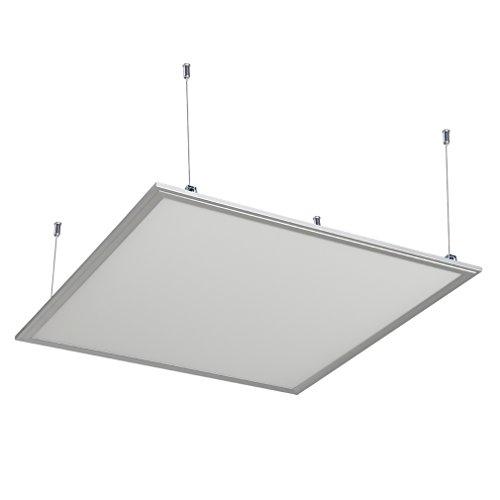 Anten LED Panel Hängeleuchte Deckenleuchte Deckenlampe, 24W, 1800 lumen, Neutralweiß-4000K, quadratisch 30x30 CM, IP20, mit Befestigungsmaterial und LED Treiber (Fluoreszierende Innenbeleuchtung)