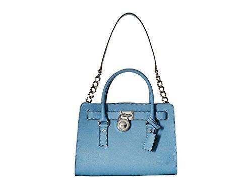 michael-kors-hamilton-saffiano-leather-medium-satchel-damen-handtasche-mit-griffen-blau-grosse-one-s