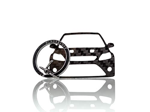 BlackStuff Carbon Karbonfaser Schlüsselanhänger Kompatibel mit Focus RS MK2 2004-2011 BS-182 - Focus Ford Schlüsselanhänger