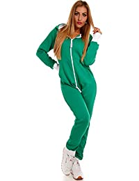 Crazy Age Basic Jumpsuits Ganzkörperanzug Einteiler One Piece Schlafanzug Overall  Damen Jumpsuit Kuschelig… 63539441cf