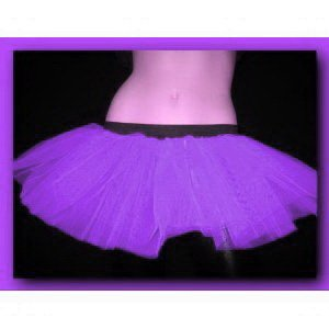 Purple Tutu Petticoat Skirt Punk Cyber Rave Dance Fancy Costumes Party UK Free Shipping