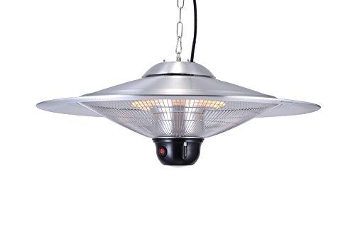 GREADEN – Infrarot-Hängeheizstrahler SATURN – Mit Fernbedienung und LED-Lampe – Terrassenheizstrahler – GR2RT3 - 8