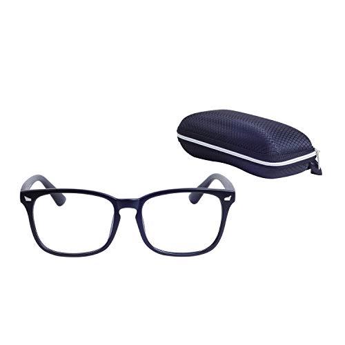 Joxigo grandi oversize nerd montatura occhiali da vista retrò lente trasparente donne uomo con custodia