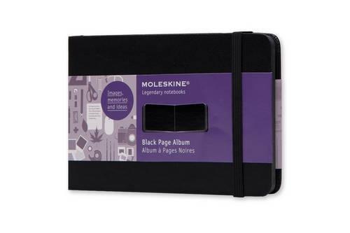 Moleskine FO1A2 Album mit schwarzen Seiten Pocket, Hardcover schwarz (Corner Blatt Pocket)