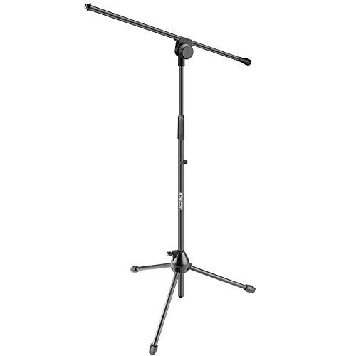 Neewer Trépied Boom Support de Microphone au Sol- Alliage d'Aluminium, Hauteur Réglable Maximum 37,4 pouces/95 centimètres, Pliable, Inclinable Rotatif pour Utilisation de Scène ou de Studio (NW006-1)