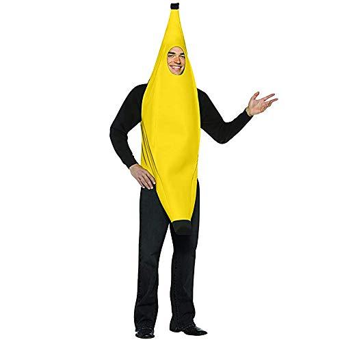 Bananenkostüm Bananenanzug Karnevalskostüm Unisex Bananen Kostüme Overall Cosplay Jumpsuit Body Suit Weihnachten Party Bananaman Kostüm Arbeitsbkleidung Arbeitsanzug Fruchtkostüm Damen Herren - Banane Unisex Für Erwachsene Kostüm
