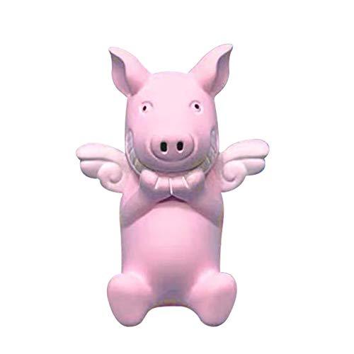 Steellwingsf Nette Karikatur-Flügel, die Schwein-Auto-Luftauslass-Lufterfrischer-Parfüm-Aroma-Klipp-Dekor wünschen Rosa