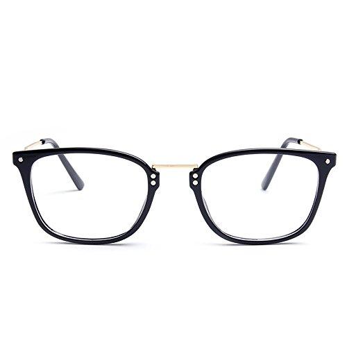 GCR Sonnenbrille Schatten Polarisierende Brille Neue Leichte Tr90 Rahmen Retro-Schlichte Glas Spiegel 90 Holz Edelstahl Metall Brillengestell 51013 , C