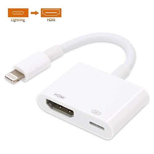 ATETION HDMI Adapter für Phone, 1080P Digital AV Adapter HDTV Sync Screen HDMI Anschluss für Phone 11 / Pad Air/Mini/Pro (Kompatibel mit IOS 13 Vorher & Nachher)