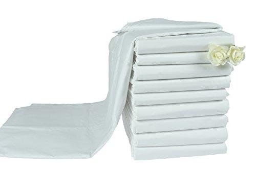 KMP Haustuch/Bettlaken BettuchHotel Ohne Gummi weiß Verschiedene Größen 125 g/m² (140 x 200 cm)