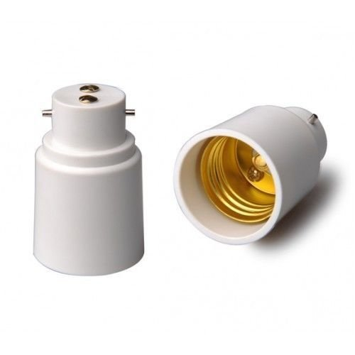 Ghyveny Neue B22 auf E27 Sockel Konverter, BC auf ES Erweiterung der Lampenfassung, Bajonett auf Edison Screw Sockel Adapter, für LED CFL Smart RGB Playbulb Music Light Bulb Speaker by (Edison-erweiterung)