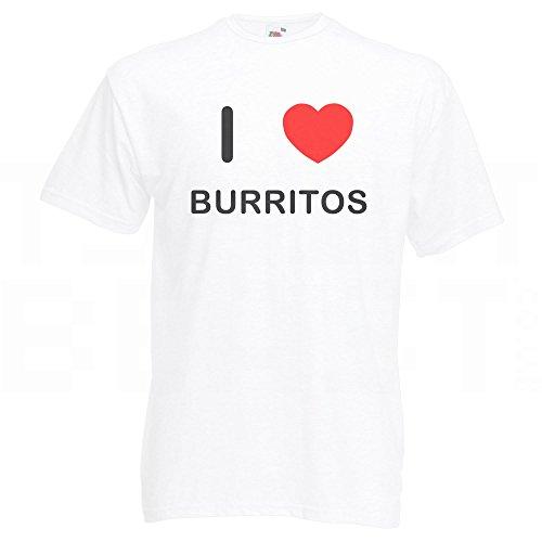 I Love Burritos - T-Shirt Weiß