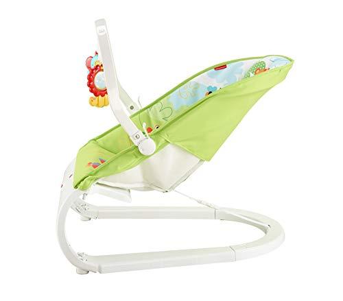 Imagen para Fisher-Price CJN00 Rainforest recién nacido, mecedora y silla con centro de actividades con barra de juguete extraíble y calmante vibraciones