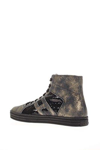 Hogan Rebel Femme Sneaker haute hxw1410p991dweb999Sneaker haute R141Paillette noir/or