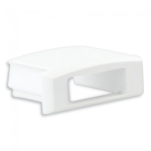 Platte Schranktüren (LED Profil Anser 1/2 Meter Opal Alu Eloxiert/Weiss/schwarz (Endkappe Weiß mit Kabelausgang))