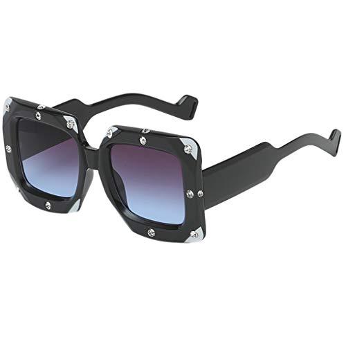 Produp Unisex Persönlichkeit Trendy Punk Wind Brillengestell Retro Unregelmäßige Form Sonnenbrille