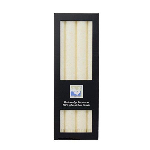 Stearin Stabkerzen, 250 x 22 mm, Elfenbein, 4er-Pack, Bio - Kerzen / Stearin - Leuchterkerzen -