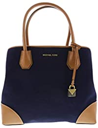 9ec422354b3e Michael Kors Women's Mercer Gallery Leather Tote Canvas Top-Handle Bag