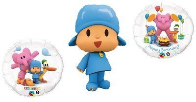 POCOYO Pocoy (3) Blue Figure Happy Birthday PARTY Favor Supplies Mylar BALLOONS by Lgp