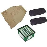 Service Box per Vorwerk Kobold 130, 131igiene contiene 10sacchetti per aspirapolvere, 1microfiltro Hepa, 2filtri Carbone per motore inodore, 10Profumini - Box 10 Sacchetti Filtro