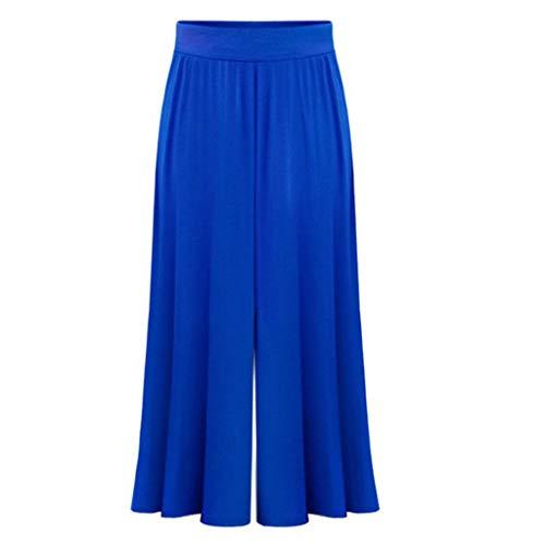 Watopi Locker Weite Beine Hose elastische Taille der Frauen Haremhose Hosen Streifen breite Bein Hosen Strandhose