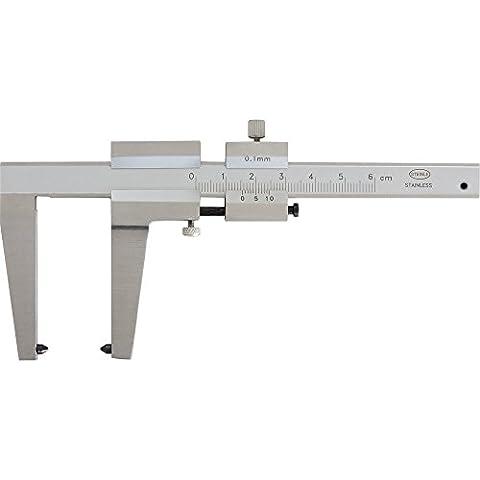 Disques de frein Pied à coulisse 0–50mm Longueur du bec: 50mm avec Vis de fixation rapide, lecture: 0,1mm, poids: 0.23