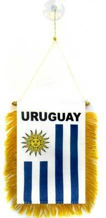 AZ FLAG Fanion Uruguay 15x10cm - Mini Drapeau uruguayen 10 x 15 cm spécial Voiture - Bannière