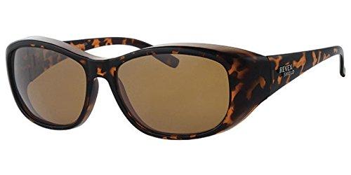 REVEX polarisierte Überbrille Sonnenbrille für Brillenträger havanna CAT3