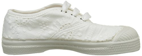 Bensimon Tennis Lacet Broderie Anglaise, Baskets Basses Fille Blanc (Blanc)