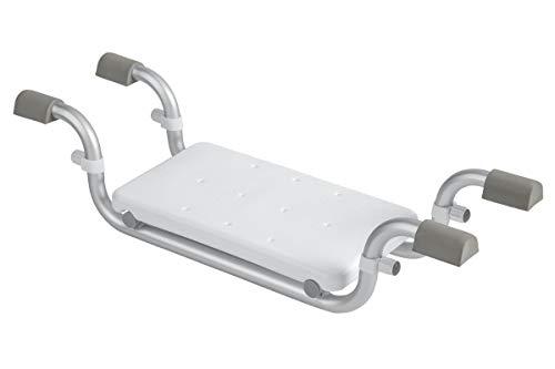 Markenlos Badewannensitz bis ca. 150 kg Badewanne Sitz Aluminiumgestell 40x23cm Sitzfläche