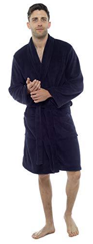 Tom Franks Hombre Forro Polar Extrasuave Bata - Azul