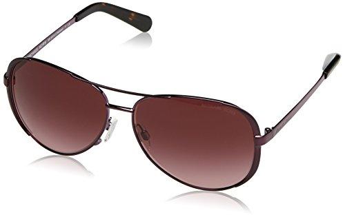Michael Kors Damen CHELSEA 11588H 59 Sonnenbrille, Plum/Burgundygradient,