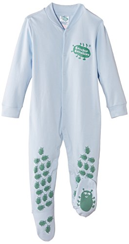 Creeper Crawlers East Grip Crawl Suit, 12-18 Months, Blue Body, Bleu, 18 Mois Mixte bébé