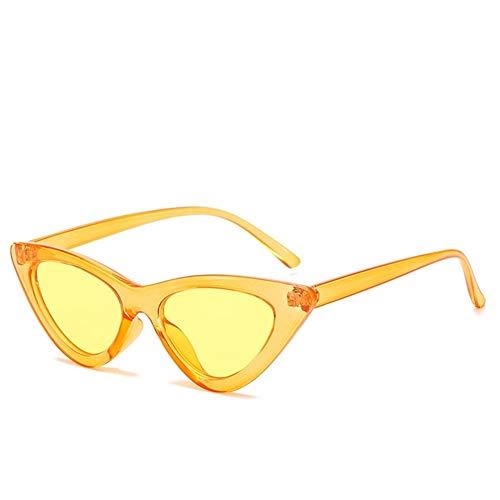 Mode Niedlich Sexy Damen Cat Eye Sonnenbrille Frauen Vintage Marke Kleine Sonnenbrille Weiblich (Lenses Color : C9)