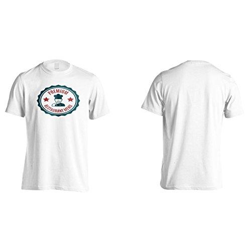 Nuovo Cibo Premium Del Ristorante Uomo T-shirt m309m White