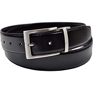 Ashford Ridge Gift Boxed 34mm Twist Reversible Coated Leather Belt in Black/Brown (40
