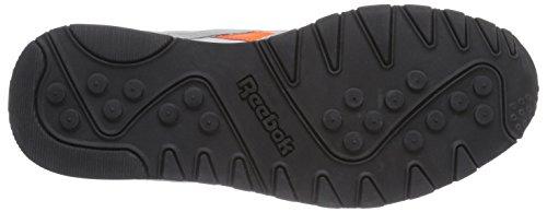 Reebok Classic Nylon, Chaussures de course homme Gris - Grau (Mgh Solid Grey/Snow Grey/Vivid Tangerine/Blk)