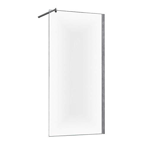 Duschwand Duschabtrennung Faro 8mm Glas - 140 x 200 cm