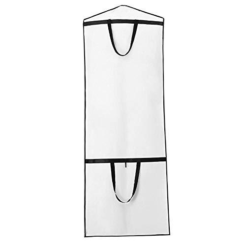 QueenHome Staubschutz atmungsaktiv und wasserdicht staubdicht Deckel Verdickung Schutzhülle Faltbare Aufbewahrungsbeutel für Brautkleid, Kleid, Kleid, Anzug