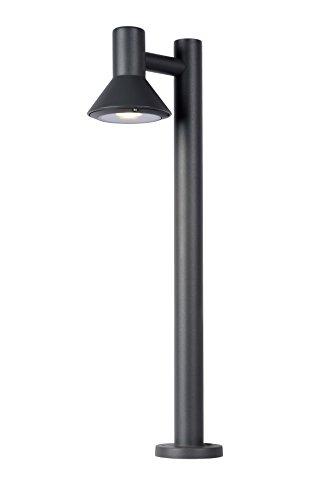 Lucide 27886/65/30 Nando Borne Extérieur, Aluminium, GU10, 5 W, Anthracite, 12,8 x 23 x 65 cm