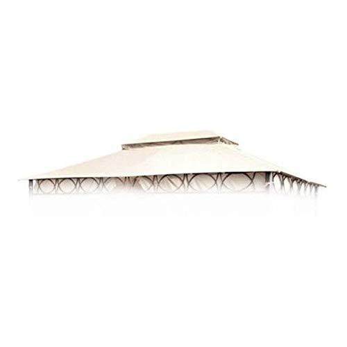Buri Ersatzdach Ecru für Cape Town Garten-Pavillon 4x3m Pavillondach Kaminabzug Dach