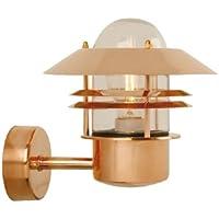 Nordlux - Lampada da parete Blokhus, per esterni, in rame e vetro