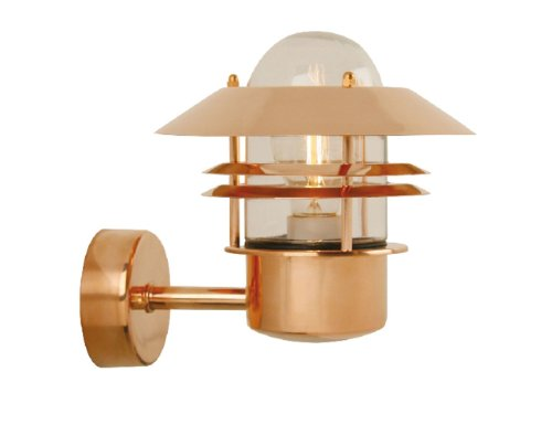 Nordlux lampada da parete blokhus per esterni in rame e vetro