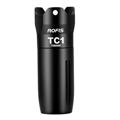 Rofis TC1 Mini Lampe de Poche LED Lampe de Poche Portable Mini EDC XP-G3 Lampe de Poche LED + 10180 Batterie Li-ion 120 Lumens Étanche IPX6 pour Outdoor Sport ou Cadeaux