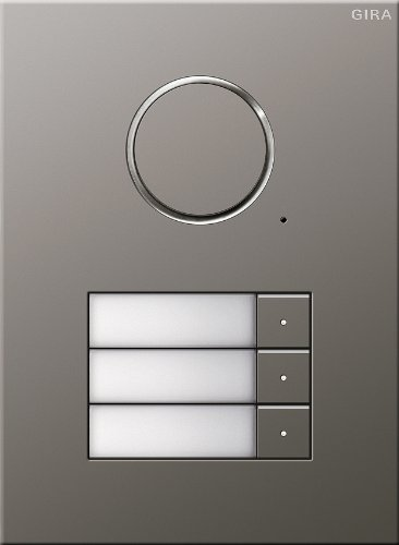 Gira 250320 Door Station Stainless Steel 3-Sections