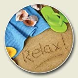 Best Gadgets Beach - Relax Beach Scene Absorbent Stone Auto Car Cup Review