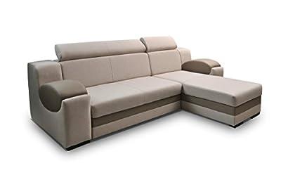 Universal Hand Corner Sofa Bed - Madrit - Cream Polski Wysokiej Jakosci Produkt by Megan Furniture