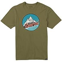 Burton Retro Mountain Camiseta, Hombre, Olive Branch, L